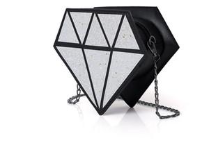 laser 2019 diamond handbag women bag Messenger bag laser holographic chain geometry ladies shoulder bag solid color folding 8 colour