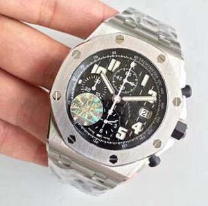 Рождественский подарок Швейцарские марки мужчины роскошные часы из нержавеющей стали браслет 7750 Движение 3126 автоматический хронограф Дата хронографии Мужская античная наручная чашка