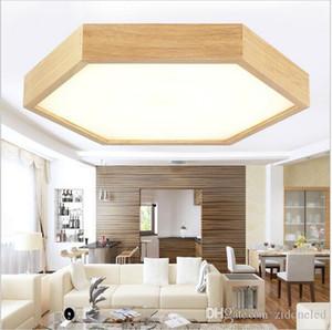 современный потолочное минималистский дерево фары шестиугольник скрытого монтажа потолочные светильники Встраиваемые светильники освещение LED внутренние лампы светильники