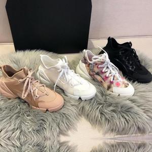 Primavera verão designer sapatos casuais moda flores esportes sapatos de mulher correndo impressão rendas de fundo grosso sapato de Boliche de luxo Tamanho grande 42