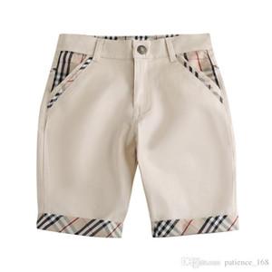 Calças dos meninos 2019 INS NOVO Moda crianças verão novos estilos Xadrez Calças de algodão de alta qualidade estilo Lazer Meninos calças de Cinco-ponto frete grátis