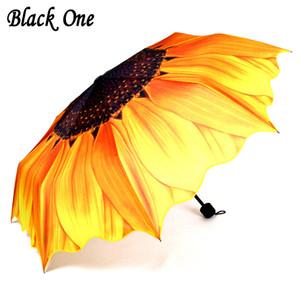 Belle femelle pliant parapluie pluie femmes filles cadeau jaune Parasol Paraguas Guarda Chuva Parapluie Ombrello T8190619