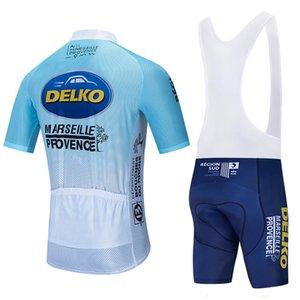 команда DELKO Велоспорт Короткие рукава Джерси шорты наборы задействуя одежды дышащая открытый горный велосипед велоспорта HOT SALE