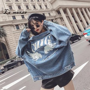 Vintage Women Winter Denim Jacket and Coat Bomber Crop Loose Jeans Women Jackets 2018 Gothic Clothing