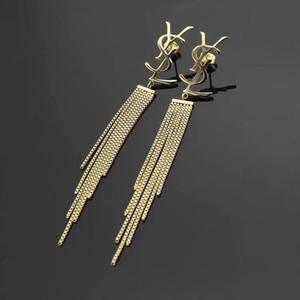 316L titane concepteur goujon en acier Boucle d'oreille longue houppe femmes amour charme Boucles d'oreilles Créatrice de bijoux en gros