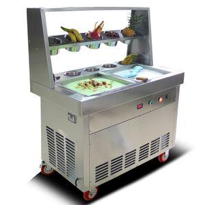 BEIJAMEI Flat Pan мороженое машина 110v 220v жареное мороженое машина сделать мороженое рулон