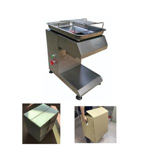 Großhandel Freies Verschiffen 110V / 220V Fleisch-Schneidemaschine, Fleischschneidmaschine, Fleischschneider Fleischverarbeitungsmaschinen Edelstahlmesser