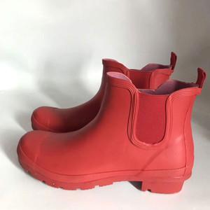 النساء يقصر رجل المطر أحذية مطاطية غير لامع قصير أحذية المطر ماء WELLY المطر أحذية تناسب الشتاء جوارب التمهيد صالح أحذية المطر الجوارب