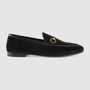 2019 femmes mocassins Jordaan mocassins en velours Mocassins Bottes Pantoufles Pilotes Sandales Chaussures à talons bas Baskets Semelle extérieure en cuir Dress Run Chaussures