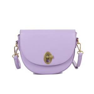 замок сумка 2020 новая весенняя мода леди корейский стиль седло сумка сумки на ремне сумочка