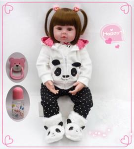 Детям возрождается кукла 48см новорожденной девочки кукла мягкая силиконовая кукла младенца перерождение оптовой игрушки детские новогодние праздничные детские игрушки