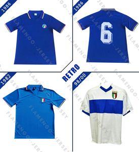 إيطاليا 1982 1986 2000 كأس العالم الرجعية لكرة القدم الفانيلة Home Blue Massaro Rossi Vialli Shirts Galderisi Maglia Da Calcio Fanna Vinna