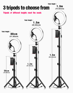 remote LED Selfie Ring Light 5 8 10inch Dimmable Camera Phone Ring Lamp With Tripod Stand Phone Holder For Video Live Studio