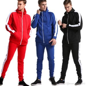 Mens Tracksuits Sports Suit Men Winter Sweat Suits Set Color Matching Sportswear with 5 Colors Large Size Asian Size M-5XL