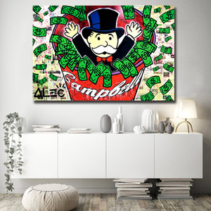 Alec Monopoly Street HD Wall Art Canvas Poster and Print Canvas Canvas Cuadro decorativo para sala de estar decoración para el hogar