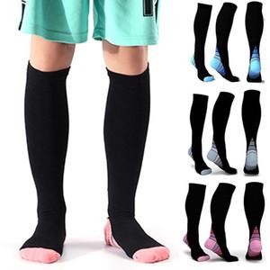 2019 Мужчины Женщины поддержка ног стрейч компрессионные носки ниже колена носки падение доставка