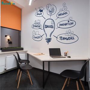 Офис Вдохновляющий Успех Надписи Слова Стикер Стены Виниловые Слово Украшения Дома Для Гостиной Съемный Искусство Фрески