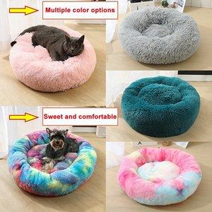 Pet Dog Cat Soft Plush Bed Litter Kennel Dog Pet Blanket Sono Profundo Rodada Pet Cat Soft Bed