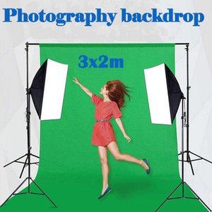 toptan Studio damla Fotoğraflar Arka Plan pamuk-polyester kalın Yeşil Ekran 2x3m Fotografik Arka plan aydınlatması equiqment harmanlanmış