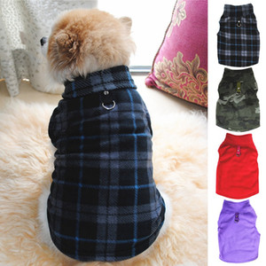12 pz / lotto Inter Fleece Pet Vestiti per Cani Puppy Abbigliamento Cappotto Bulldog Francese Pug Costume Giacca per Cani di Piccola Taglia Chihuahua Cappotti Costume