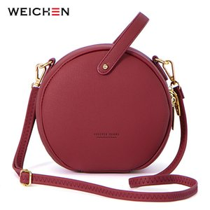 HOT Circular Design Fashion Women Shoulder Bag Leather Women's Crossbody Messenger Bags Ladies Purse Female Round Bolsa Handbag CX200529