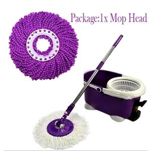 360 graus de rotação de microfibra substituição Mop cabeça Fácil Cozinha Mágica banheiro piso de limpeza Mops chefes de família Acessórios