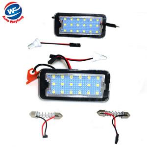 2pcs LED plaque d'immatriculation lumière pour FIAT 500 500C 2009-2015 éclairage de la voiture