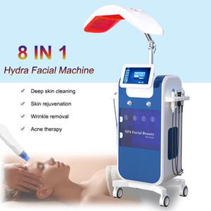 Nouveau 8 in1 peau du visage nettoyant microdermabrasion eau Hydra oxygène Jet BIO ultrasons hydradermabrasion machine HydraFacial dermabrasion