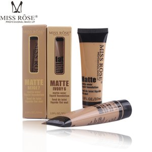 Hot Makeup MISS ROSE Liquid Foundation Faced Concealer highlighter makeup Fair Light contour Concealer Base Makeup