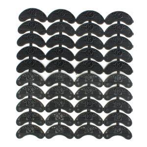 FGGS-40PCS 20-par de tacones de goma dedo del pie Savers placas Taps bricolaje pads de reparación de calzado Tamaño: 56 * 24 * 3.1mm