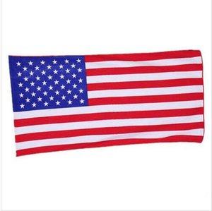 Amerikan Bayrağı Plaj Havlusu ABD Bayrağı Mikrofiber Banyo Havlu Baskılı Dikdörtgen Havlu Çocuk Plaj Kapak sarar Banyo Elbiseler 70 * 140 cm EZYQ437