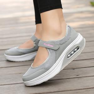 JAYCOSIN Mode Frau Loafers Causal Leichte atmungsaktive Weiblich Laufschuhe Damen HookLoop Plattform SpringAutumn Wohnungen