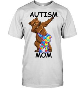 Herren T-Shirts Marke Autismus Mama Bär T-Shirt 2021 Kurzarm