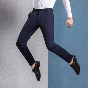 Men's Pants 2021 High Quality Fashion Autumn Stretch Classic Men Business Formal Casual Trousers 8635#