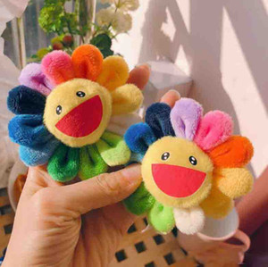 2020 New Sunflowers Takashi Murakami Kiki Kaikai Brooch Rainbow Pin Badge Strap Plush Pendant Cute Free Shipping Factory