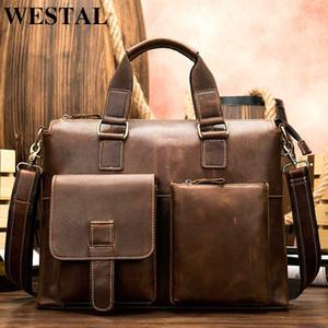 WESTAL мешка мужской натуральная кожа портфель документов кожаный порте ноутбук сумка бизнес-офис для мужчин марочные сумки тотализатор