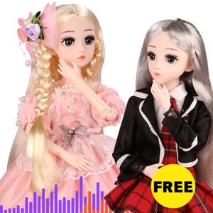 FREE) GET (BUY 1 BJD Puppe, 04.01 SD 18 Kugelgelenk-Puppe mit Kleidung Outfit Schuhen Perücke-Haar-Make-up-bestes Geschenk für Mädchen