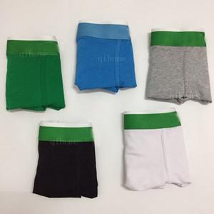 5pcs / sürü% 100 Lüks Ünlü Tasarım Erkek İç Çamaşırı Boksörler Rahat Pamuk Seksi Erkekler İç Giyim Boksörler Şort Seksi Külot Boxershorts
