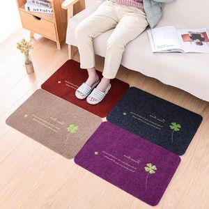 Atacado entrada tapetes da porta da frente bem-vindo tapete carpet home indoor / outdoor decoração pad não-slip capacho engraçado corredor chão mat DH0721