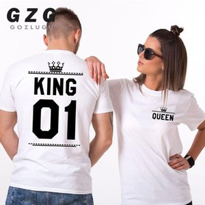 Fashion Summer Couple Clothes Letter Printing Women Men T Shirt Funny Matching Lovers Short Sleeve Tees Top 2020 new
