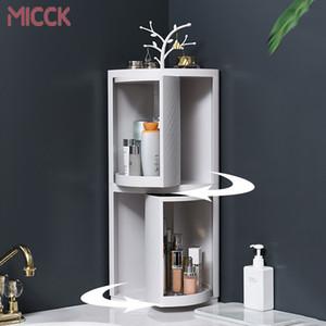 MICCK Yeni Plastik 360 Döner Banyo Mutfak Depolama Raf Organizatör Duş Raf Mutfak Tepsi Tutucu Yıkama Duş Organizatör T200320