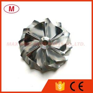 TD04HL 40.75 / 56.02mm 6 + 6 palas Turbo Billet rueda de compresor / Aluminio 2618 / rueda del compresor de fresado para turbocompresor Cartucho / CHRA / Core