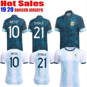 hombres tailandés Argentina jersey de fútbol Copa América 2020 Argentina tapa de la camisa del fútbol del fútbol de MESSI Dybala AGUERO + Kids juegos de piezas de uniforme