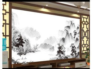 Papel de parede Custom 3d foto mural wallpaper decoración para el hogar Tinta paisaje paisaje mural dormitorio sala de estar fondo etiqueta de la pared