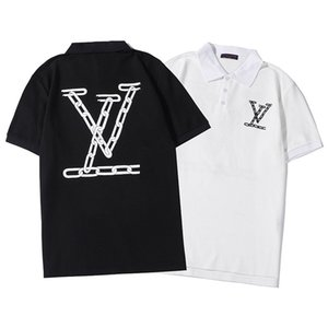 alta calidad 2020 nuevo diseñador de la camiseta para hombre de pie L1V botón de collar partido tenedor el polo sudor hombres transpirable calle de la moda de verano
