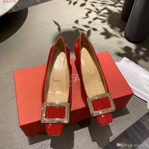 High-end atmosphere Dress shoes with flat tops and high heels wedding dress shoes for professional ladies Blue, black and red