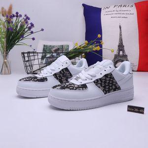 Dior x Nike Air Force 1 Low  20 AF1 zapatos de moda casual de lujo del cuero del diseñador de sexo femenino de tacón alto de los zapatos corrientes hombres y mujeres zapato al air