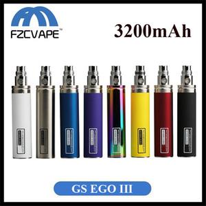 GreenSound GS EGO III original Batería 3200 mAh Capacidad enorme 8 colores Paquete único Vape Pen DHL EMS