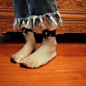Mesh Lace Donne Ragazze Fishnet della caviglia alta calzini della signora Fish Net brevi calzini