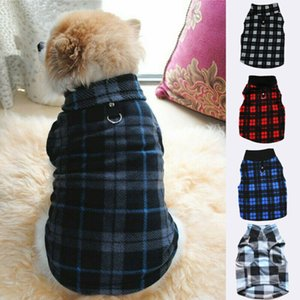 2020 neueste heiße Haustier-Mantel Hunde Fleece karierte Jacke Westen Frühling Kleidung Welpen-Katze-Strickjacke-Mantel-Kleidung Bekleidung